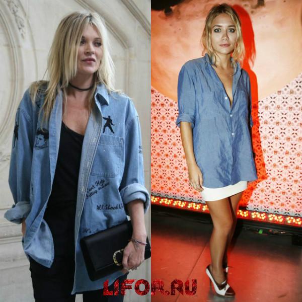 Деякі дизайнери примудряються навіть джинсові сорочки прикрасити різними  цікавими ідеями. Так efb1ee3130d2b