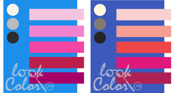 Biru Dan Menggabungkan Dengan Merah Jambu Putih Ungu Sederhana Warna Barbie Raspberry Asas Krim Kelabu