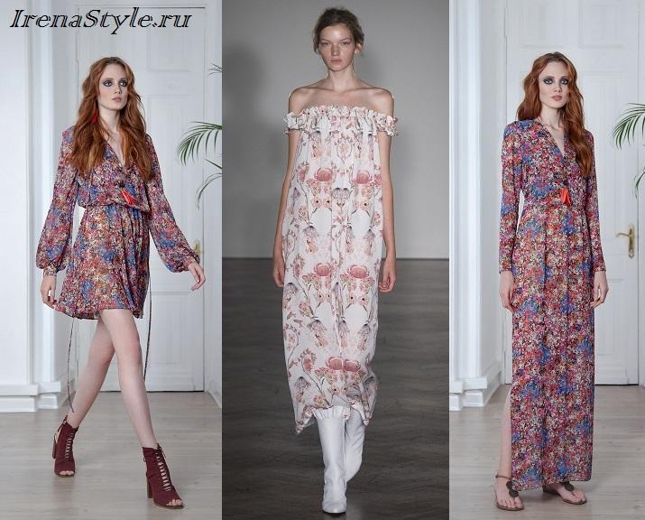 Módní šaty s potiskem. Jemné a romantické květinové tiskové šaty fb4a0964fb