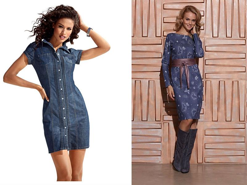 Платья из джинсовой ткани своими руками 92