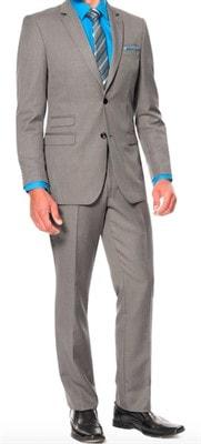 Ο συνδυασμός γκρι-μπλε κοστούμι με ένα λευκό πουκάμισο. Τα μυστικά ... de9c8c67499