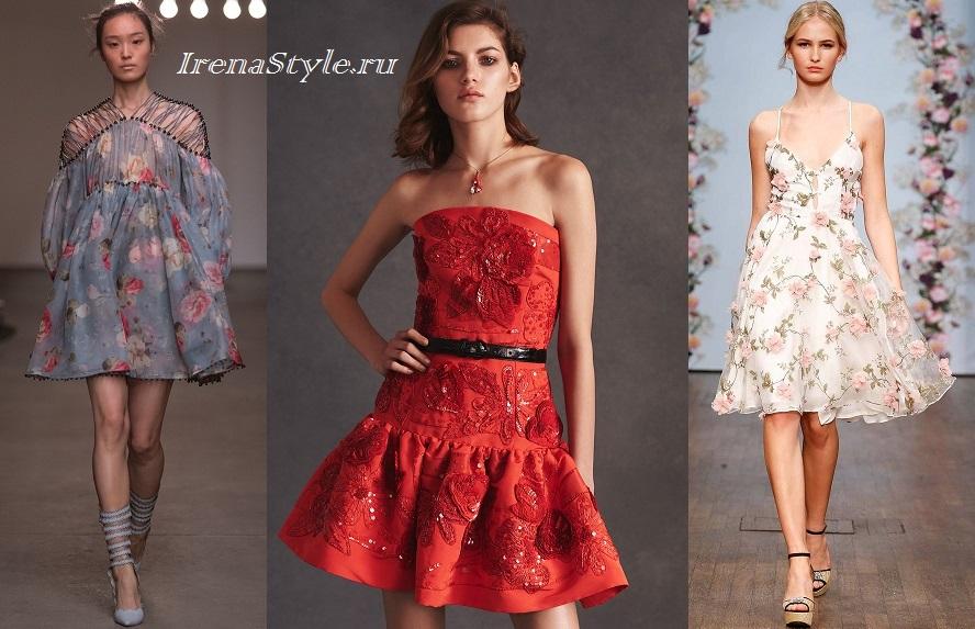 Divatos ruhák nyomtatással. Finom és romantikus virágos nyomtatási ruhák 8dd8194831