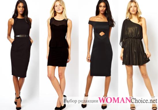 186154c276 Klasszikus fekete ruha. Fekete ruha a kijáratnál. Természetes szövet ...