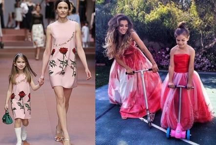 Особливо якщо плаття для дівчинки Family look виконано по дорослому фасону  - трапеція b33252fc5a065