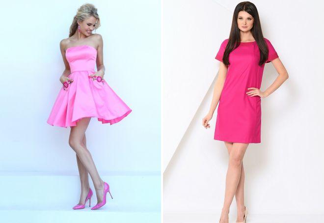 Εικόνες με ροζ φόρεμα. Σύντομο ροζ φόρεμα  τόσο διαφορετικό και κομψό. fa5fde3a3bd