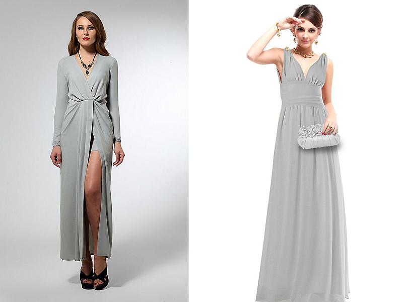 Вдало виглядає урочисте плаття в підлогу з золотими або сріблястими  босоніжками. Особливо якщо наряд виконаний з тонких тканин - шифону 3bba4282ad435