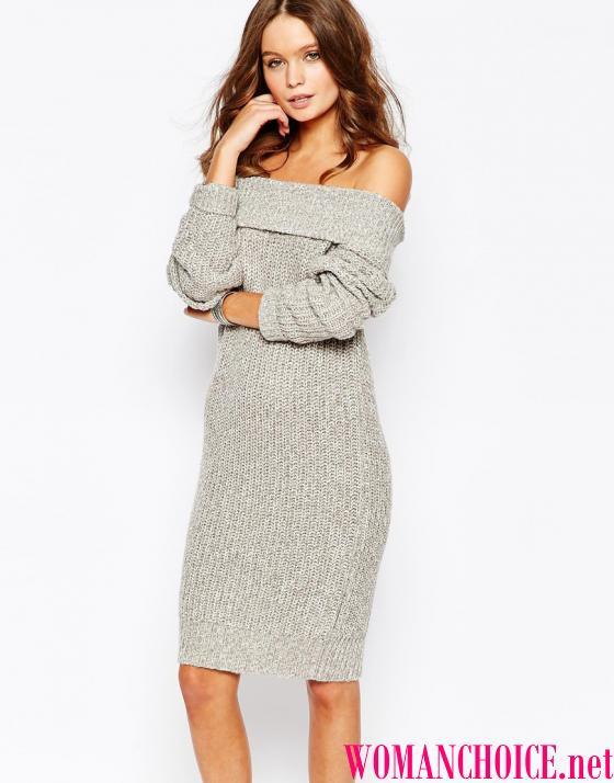 Плаття середньої довжини і міні прямого силуету добре поєднуються з високим  або широким коміром a0cc72dd29ff9