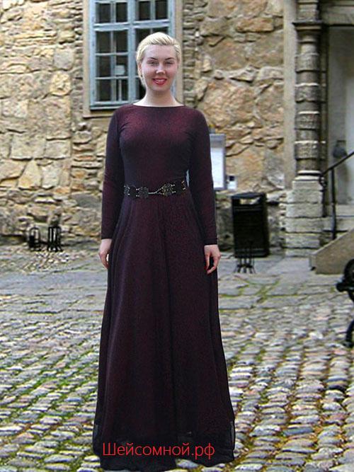 Як пошити плаття. Як зшити самої довга сукня 212dd21b72051