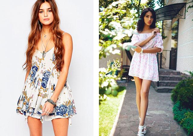 Co nosit barevné šaty. Jemné a romantické květinové tiskové šaty 993aa37493