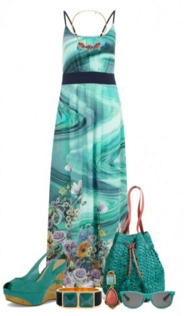 Ένα άλλο υπέροχο γυναικεία εικόνα για ένα υπέροχο καλοκαίρι  ένα ελαφρύ  καλοκαιρινό φόρεμα στα λουριά φαίνεται τέλεια σε συνδυασμό με σανδάλια του  ίδιου ... 0747080aa80