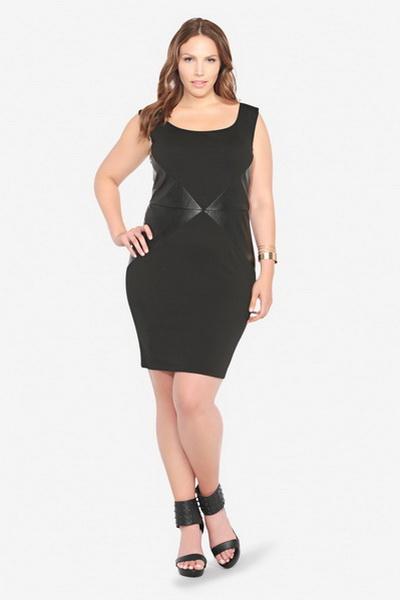 c7e3d934e75c Το μαύρο φόρεμα-peplum είναι κατάλληλο για γυναίκες με μεγάλους γοφούς -  μια παιχνιδιάρικη βασκική αποσπά την προσοχή από την προβληματική περιοχή  και ...