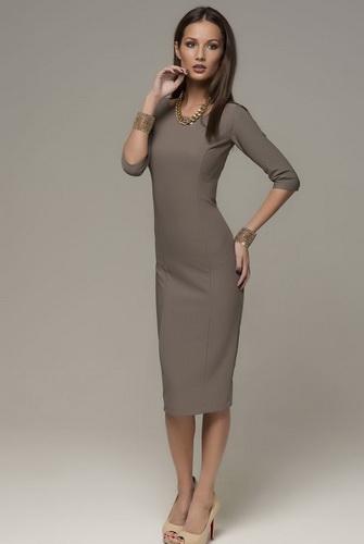 303ab7d9c73d82 Плаття-футляр з рукавами ¾. У 50-ті роки рукава довжиною ¾ були на піку  популярності, не втрачають своєї актуальності вони і зараз.