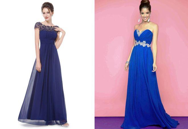 7c51e221315 Яскраво синій колір сукні. З чим носити темно-синє плаття  Фото ...