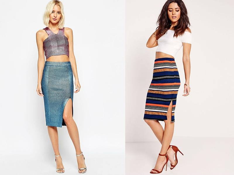 417d6235d54f Μια στενή ριγέ φούστα. Τι να φορέσετε κάτω από τη φούστα μολύβι ...