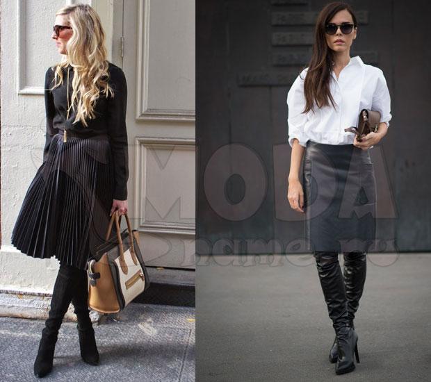 9ebbde4ebd93 Με τι να φορούν μπότες υψηλών μπότες. Μεσαίες και χαμηλές μπότες ...