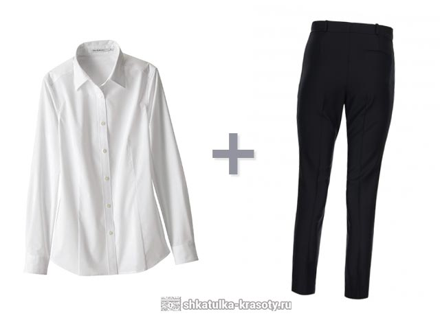 Ženska rdeča srajca z belo krilo. Bela majica za ženske - kaj obleči ... 7baa320da6