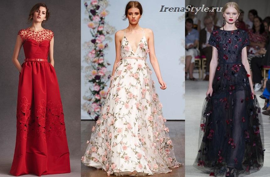 Μοντέρνα φορέματα με εκτύπωση. Λεπτά και ρομαντικά φορεσιά για άνθη fed95784013