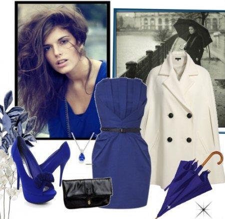 8ef7594b8c9f3 ألوان الباستيل - البيج ، حليبي ، وردي فاتح - ستعطي الفستان الأزرق نعومة  وأناقة خاصتين ، املأه بالأناقة والرومانسية. يمكن أن تكون هذه الألوان موجودة  في الزي ...