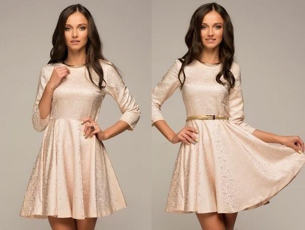 6c38dadf30e94 هام  يمكن لفتاة صغيرة أن ترتدي فستانًا قصيرًا مع تنورة كاملة. هذه الصورة