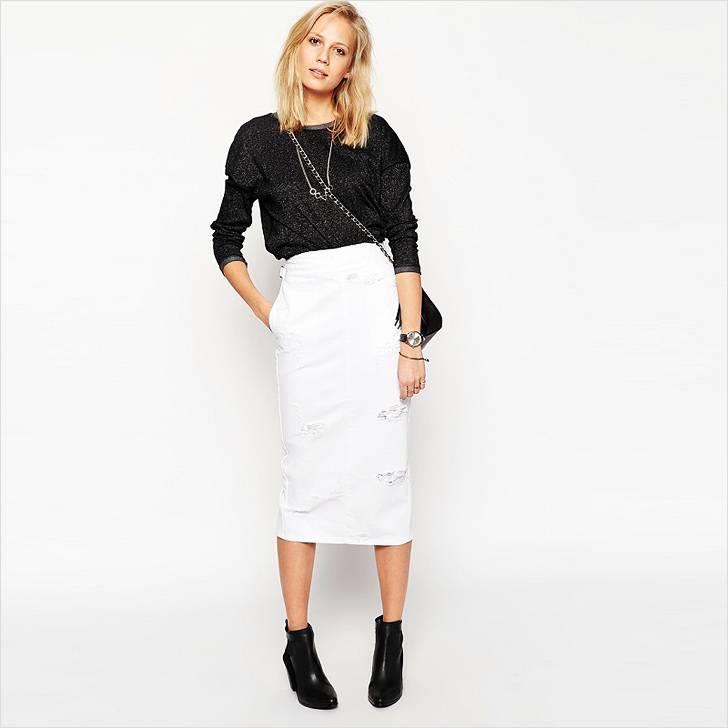 Εικόνες με ευθεία μαύρη φούστα. Μακρύ μέχρι το πάτωμα. 6a0ac855b8b