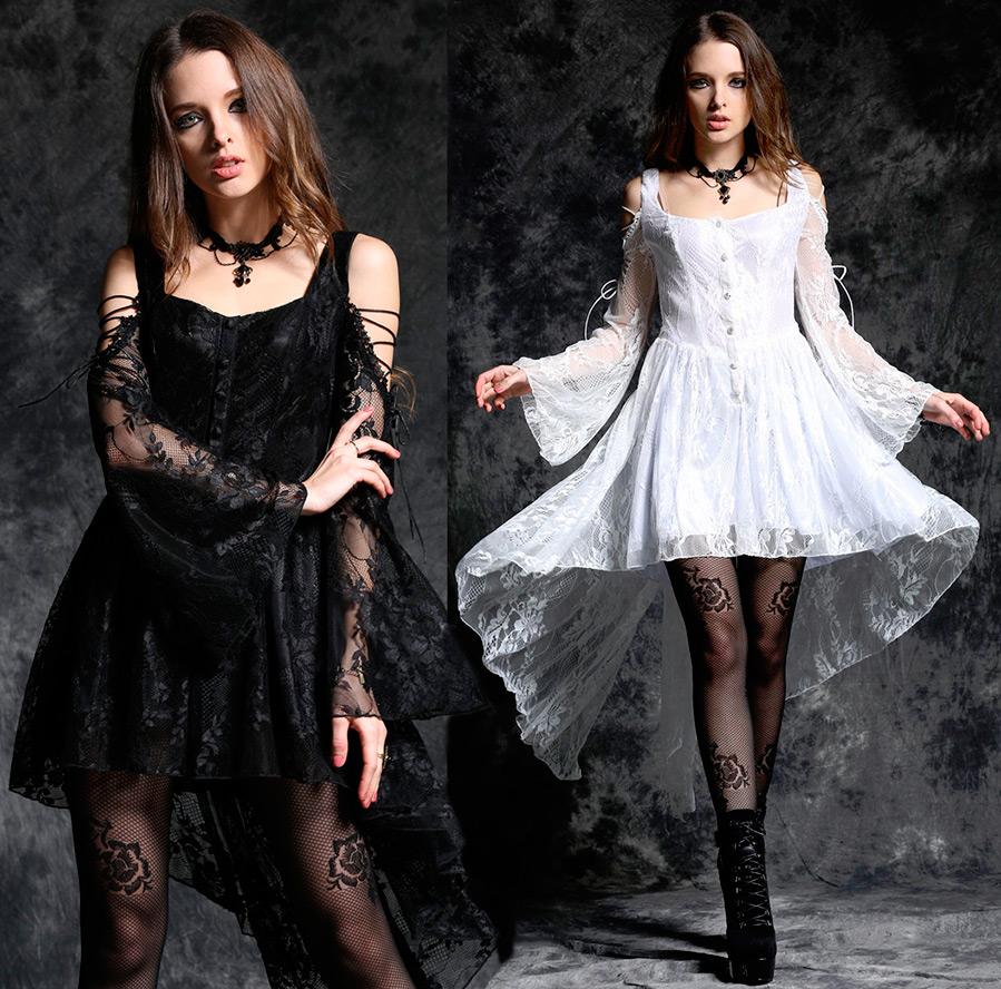 1201ef9549ad Μακρύ φόρεμα με δαντέλα στο πάτωμα. Μαύρο φόρεμα με δαντέλα μισάρεμα ...