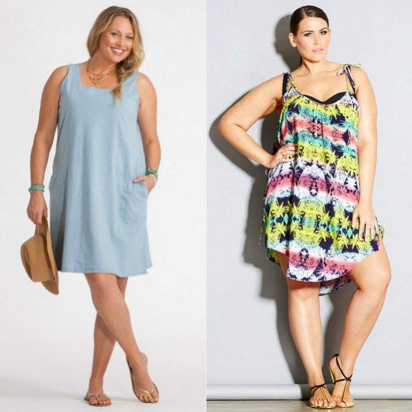 Летнее платье для полной женщины своими руками 33