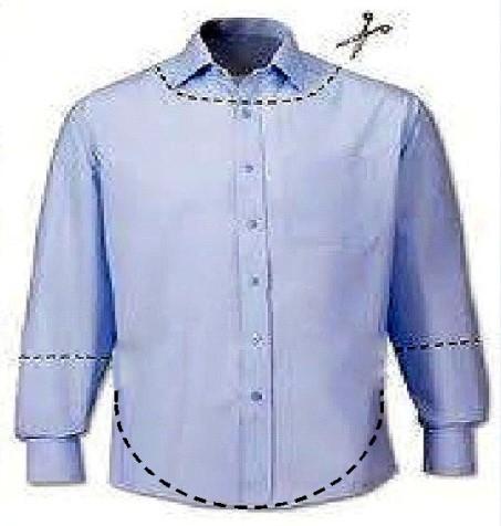 Що можна зшити з великою сорочки. Кофта вільного крою з чоловічої ... 246b105d1e735