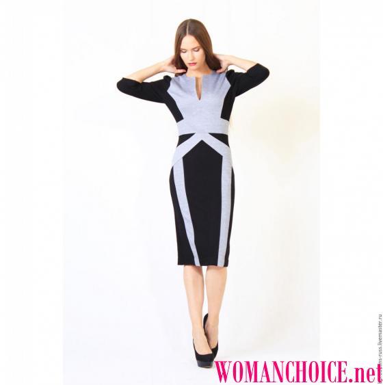 d3081d93f0 A ruha tervezésének változatai - sok. Ez lehet egy kétszínű együttes, és  talán - egy elegáns könnyű ruha fekete mintával vagy nyomtatással. Válassza  ki!