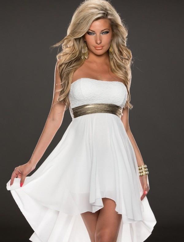 Білі сукні спідниці для худорлявих красунь можуть бути виконані з легких і  пишних тканин 54cc65a932d86