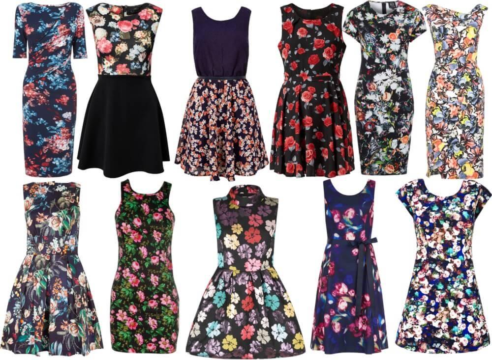 Řešení je jednoduché - vyzdvihněte oblečení s vysokým pasem nebo oblečením  do kolena. Černé šaty s květinovými obrazy také pomáhají skrývat nadváhu a  na ... ab139a0cbd