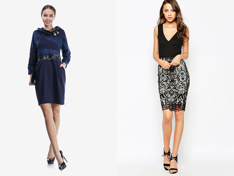 012c6a2a890c65 Зручні трикотажні сукні з мереживними вставками елегантні і жіночні.  Гармонійно виглядають наряди, які включають різні декоративні елементи -  вишивку, ...