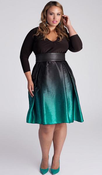 Коктельні сукні для повних жінок. Вечірні сукні для повних жінок і ... 586adf8852e0d