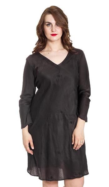 Плаття для повних шовк. Сукні з шовку - благородний вид без зайвих ... 6f5eeb75d1ad9