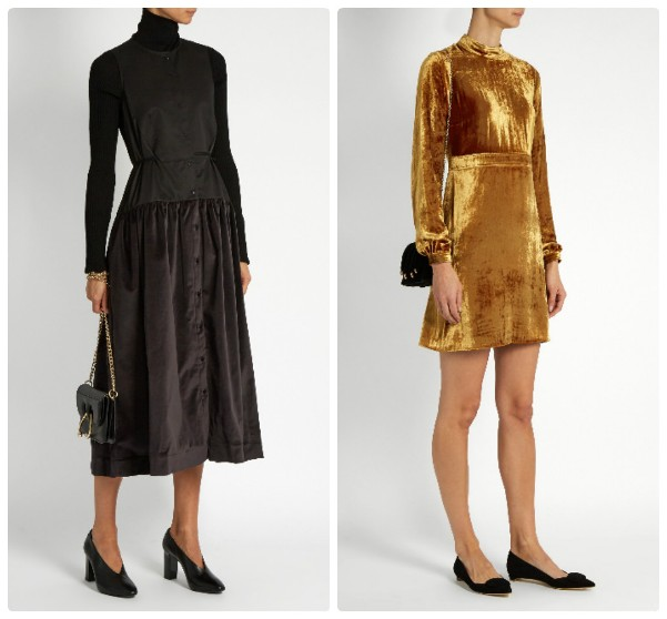 cbd76c1c5a95 Μαύρο φόρεμα από βελούδο. Το πολυτελές βελούδο είναι μια τάση μόδας ...