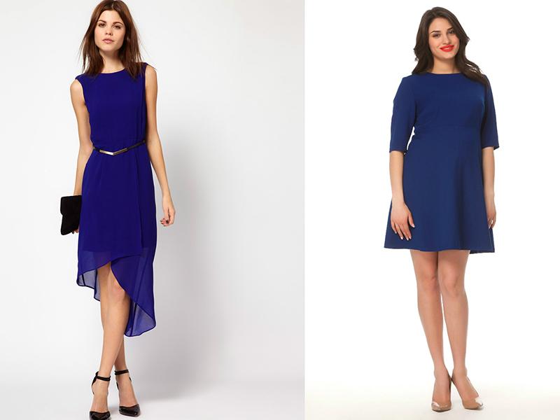 82abe4c2f17 Комбінувати плаття-футляр темно-синього кольору варто з жакетом сірого або  бежевого кольору. Чорні аксесуари краще не використовувати