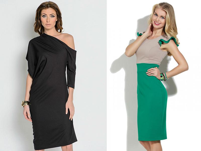 Трикотажна сукня з довгим рукавом. Трикотажна сукня годе. Чорне ... 9c9ddd9a36d01