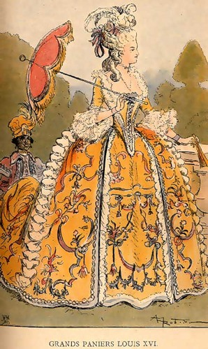 df02da619cd Αυτό το πρωτότυπο κοστούμι τελείωσε με το κεφάλι ενός όμορφη γυναίκα με ένα  μειωθεί σημαντικά σε μέγεθος λεία μαλλιά. Αλλά στο δεύτερο μισό του XVIII  αιώνα. ...