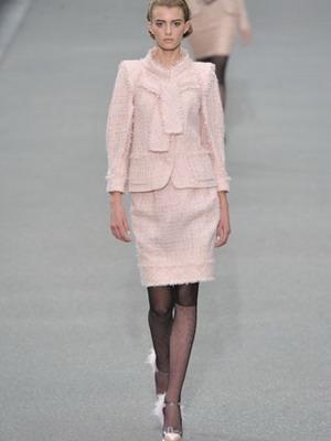 Tweed öltöny Chanel rövidnadrágjával. Kabát Chanel stílusában. 6339dec675