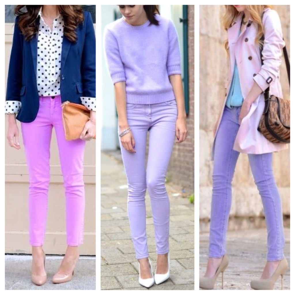 ec6923ff3ed0 Ή μπορεί να είναι ίσοι  παντελόνι λεβάντας και κορυφή ροδακινιού. Και  αντίστροφα  ροζ φόρεμα και μοβ σανδάλια. Με τον ίδιο τρόπο μπορείτε να  φορέσετε.