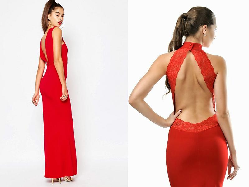 Прекрасні червоні сукні з відкритою спиною. f41d2d9a76a68