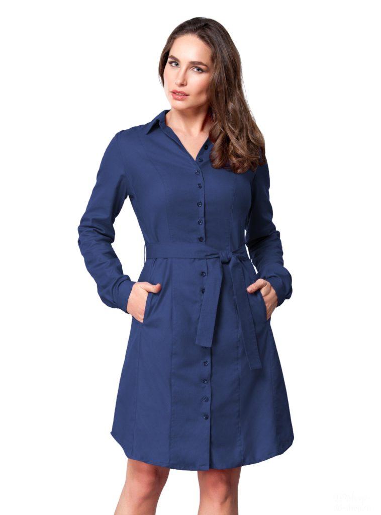 Яскраво синій колір сукні. З чим носити темно-синє плаття  Фото ... ac3e68557e18e