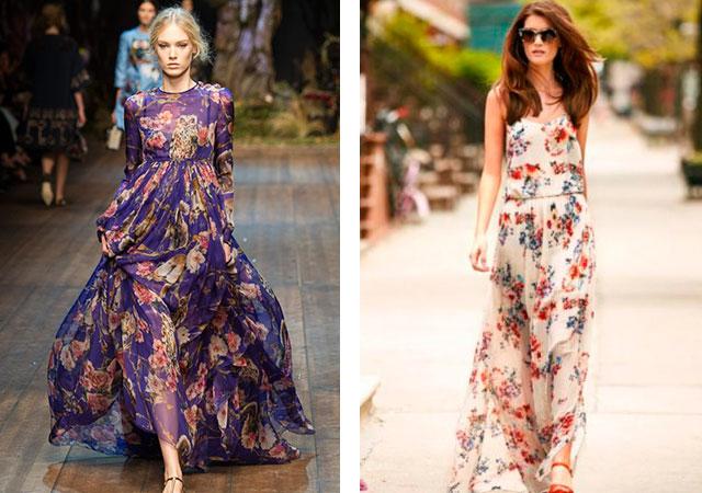 2043f6a1e45de ما يرتدي اللباس الملونة. فساتين طباعة الأزهار الحساسة والرومانسية