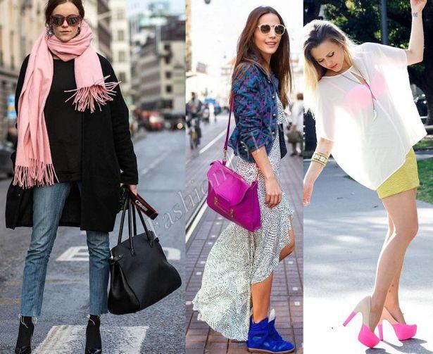 Рожева сумка відмінно поєднується з синім блейзером і кросівками 16fff971624ff