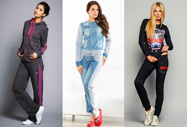 Низ спортивного костюма також різноманітний. Ви можете вибирати штани як  завужені a19cfcf71c043