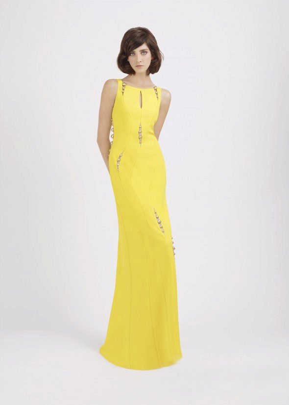 4f5f94c3d241 Παρακαλώ σημειώστε ότι σε ένα κίτρινο βραδινό φόρεμα σε καμία περίπτωση δεν  μπορεί να περπατήσει ζοφερά. Radiate ένα θετικό