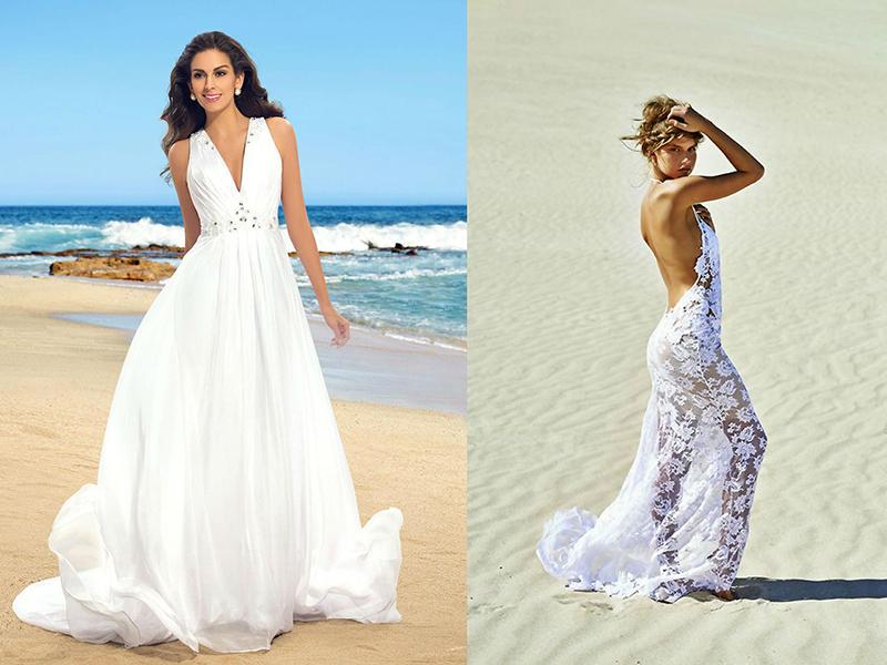 Svatební šaty vybrané pro obřad poblíž vody by neměly být náročné a  ozdobné 30455909e0
