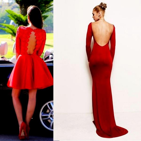 Насичені сукні червоного кольору з відкритою спиною здатні показати всю  сексуальність і привабливість жіночої фігури. Такі моделі чудово  підкреслити загар 38b67626c0bc2