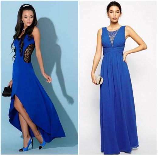 71d6a1d3f3e4 Ένα φωτεινό μπλε φόρεμα για ένα εμπρησμένο πάρτι θα φανεί ακαταμάχητο με τα  μαύρα σανδάλια
