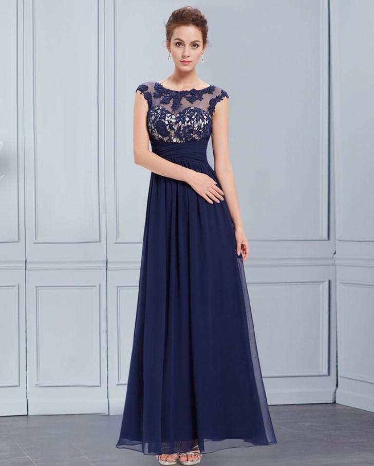 b46fef185e0d Tmavě modré šaty s červenými doplňky. Šaty s vůní. Šaty jsou modré s ...